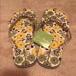 NWT Vera Bradley leopard flip flops